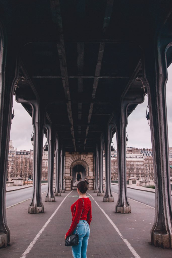 Pont de Bir Hakeim in Paris, France