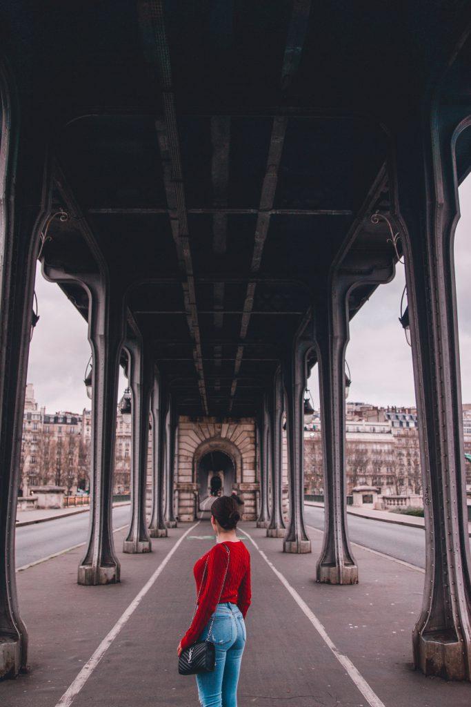 Pont de Bir Hakeim in Paris, France