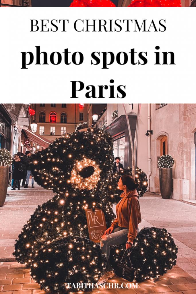 Best Christmas Photo Spots in Paris |Tabitha Scheuer |Paris Christmas