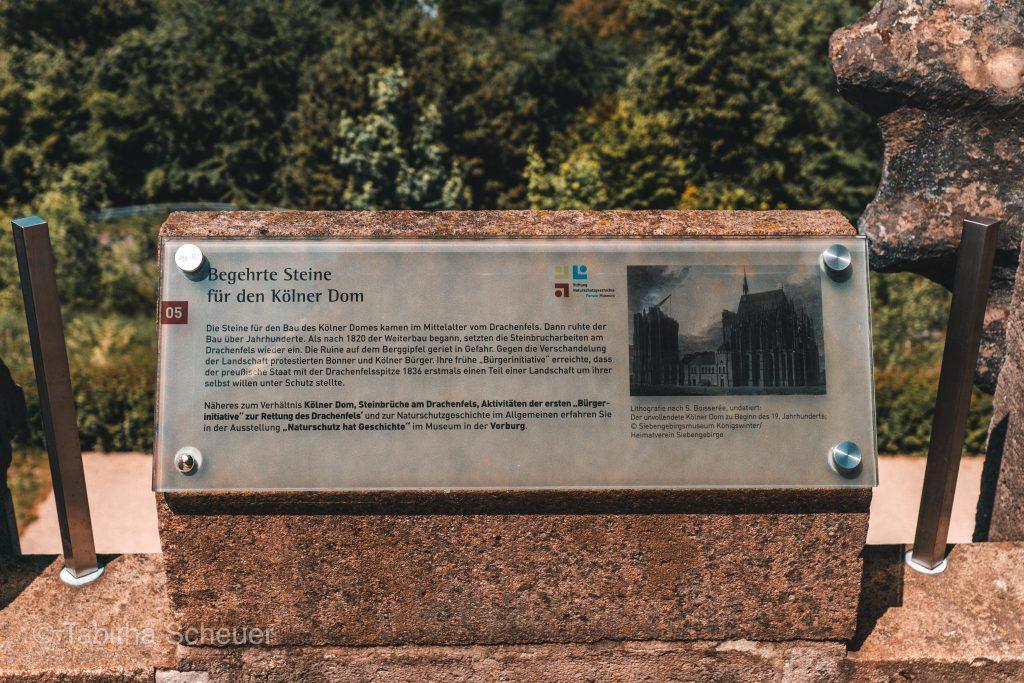 Drachenfels Steine für den Bau des Kölner Doms
