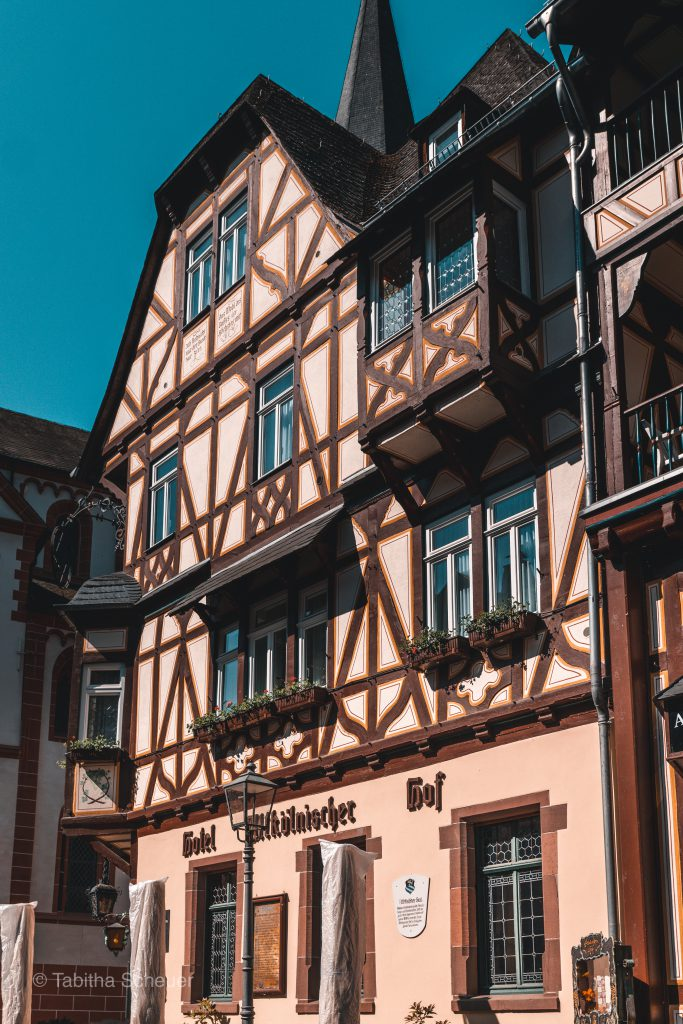 Half-timbered houses in Bacharach Germany | Fackwerkhäuser in Bacharach Deutschland