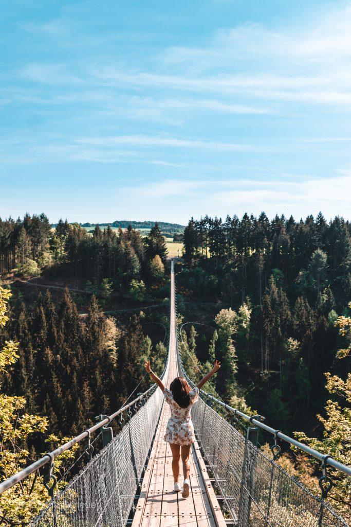 Suspension Rope Bridge Geierlay in Germany |How to visit Geierlay in Germany