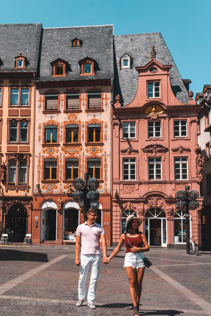 Travel Couple in Mainz Germany | How to spend one day in Mainz Germany