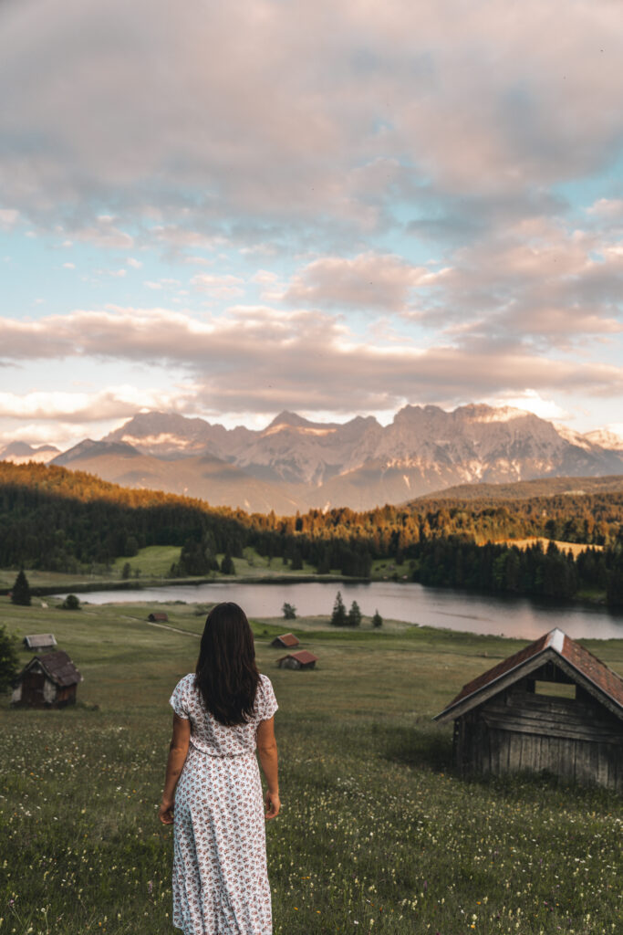 Geroldsee in Garmisch-Partenkirchen |Sunset in the mountains