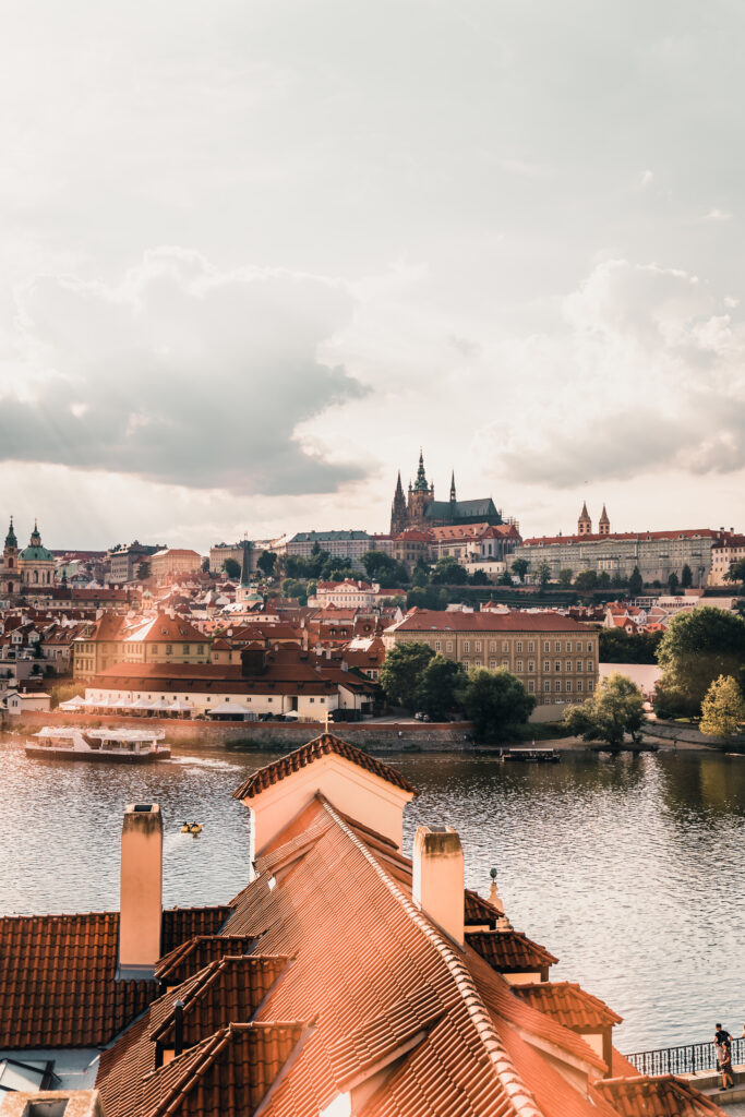 View from the River View Suite at Four Seasons Prague